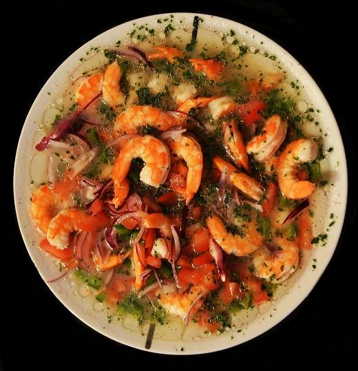 Ekvador jedlo ceviche kuchyna