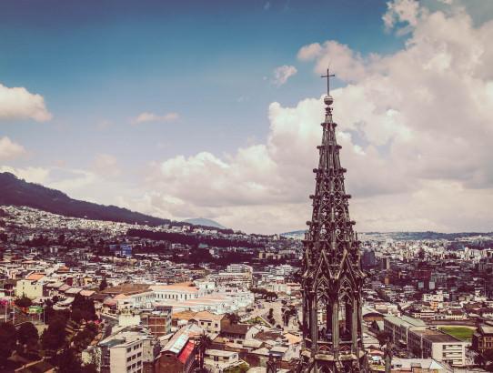 Quito view from Basilica Del Voto Nacional , Ecuador