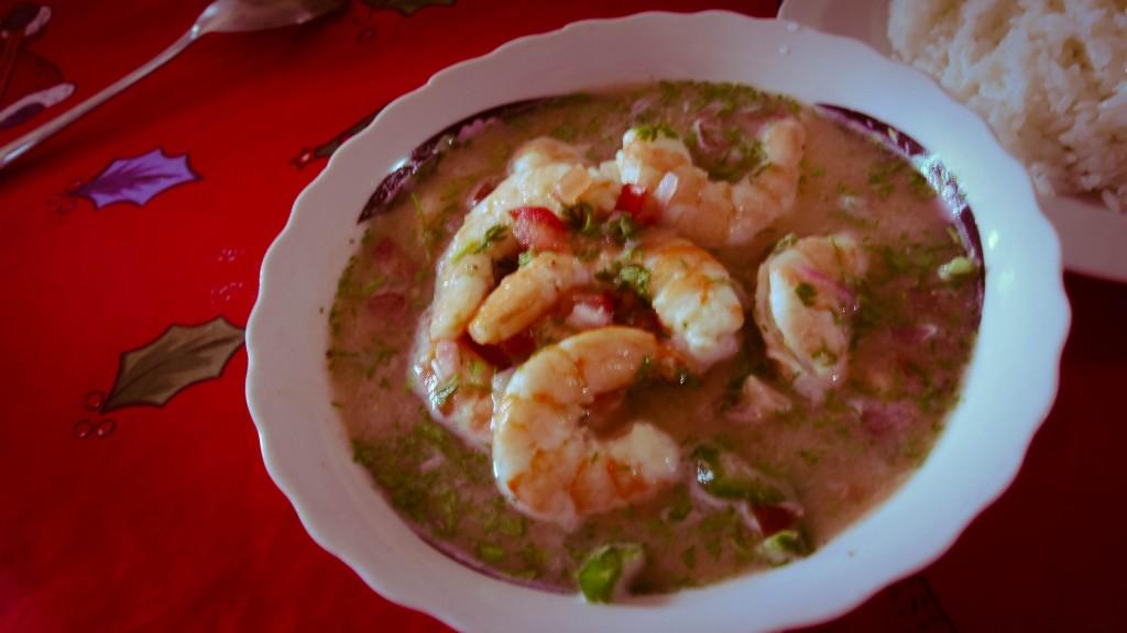Ecuadorian Shrimp Ceviche with Rice