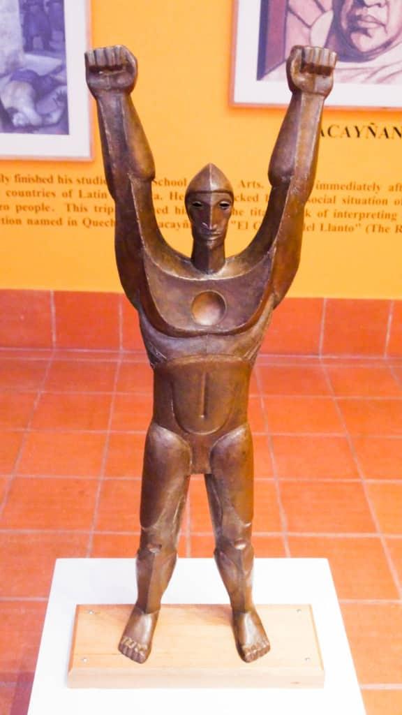 Guayasamin Statue