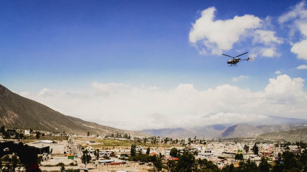 Mitad del Mundo helicopter