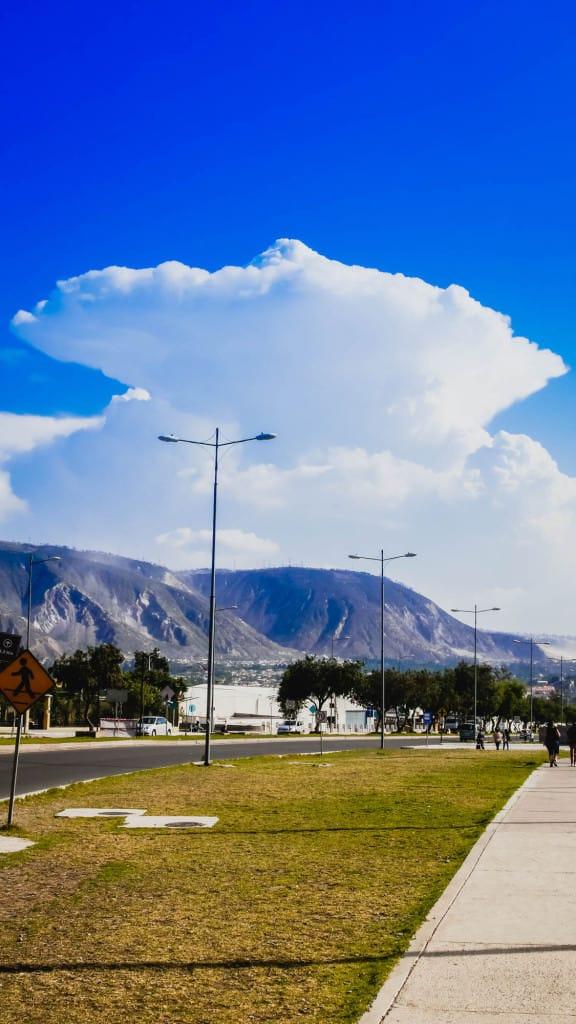 Mitad del Mundo mashroom clouds