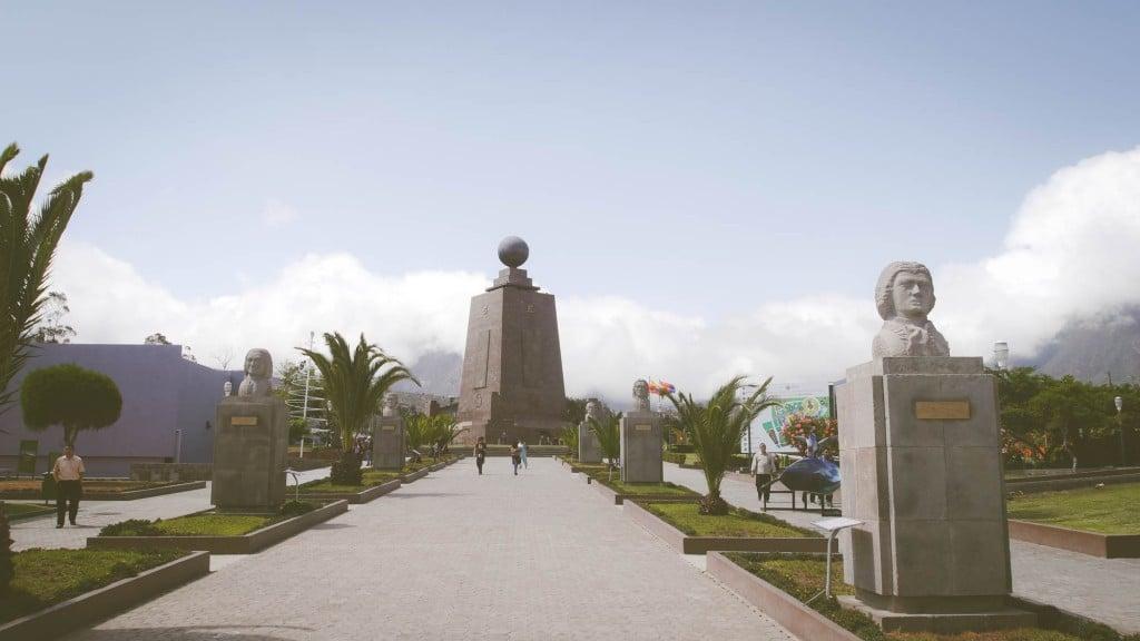 Mitad del Mundo memorial sky