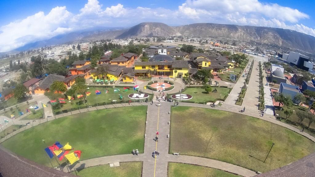 Mitad del Mundo panorama from memorial